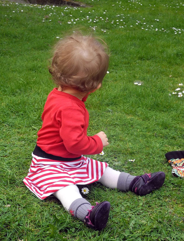 Rockschnitt für Kleinkinder: T-Skirt, der Jerseyrock