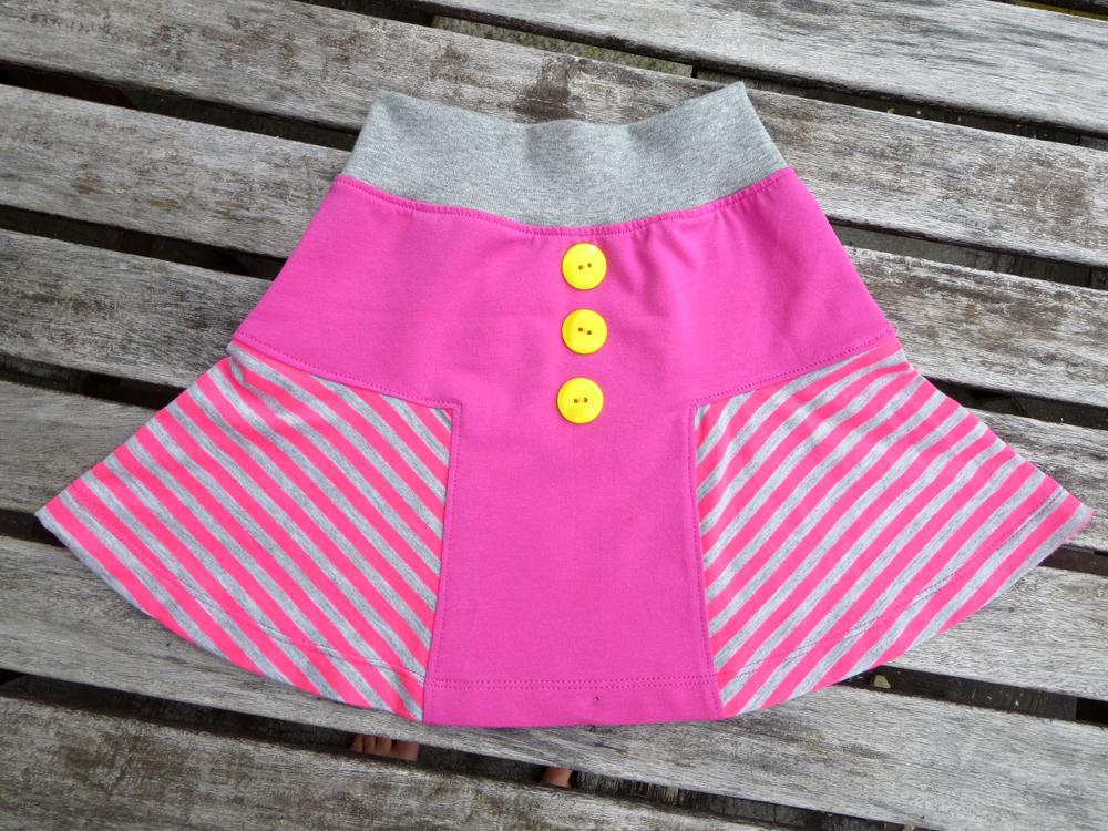 Kinder-Jersey-Rock nähen: Nähanleitung T-Skirt