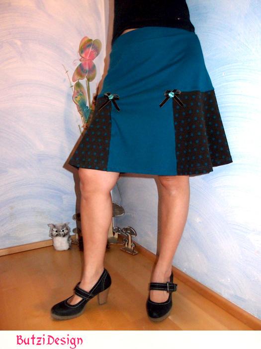 T-Skirt: jerseyrock nähen für Damen