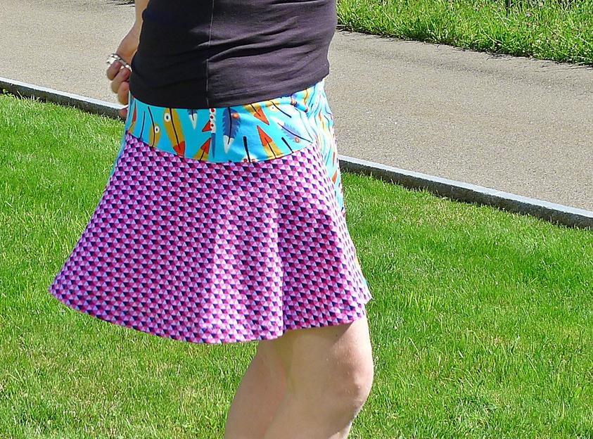 Sommerock, Damenrock aus jersey selber nähen