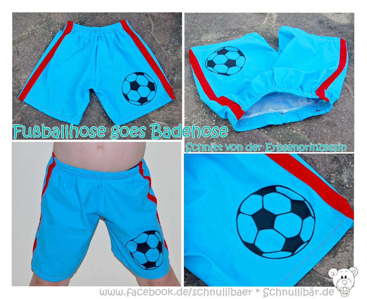 Badehose mit Fußball Schnittmuster für Kinder