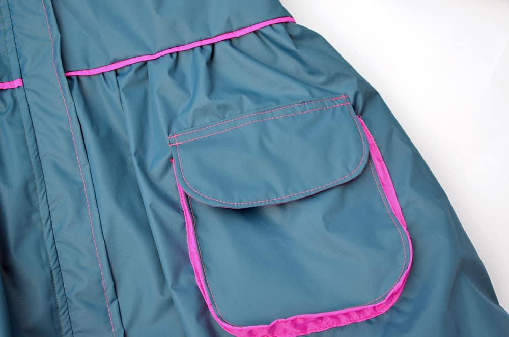 Jackentasche mit pinken details