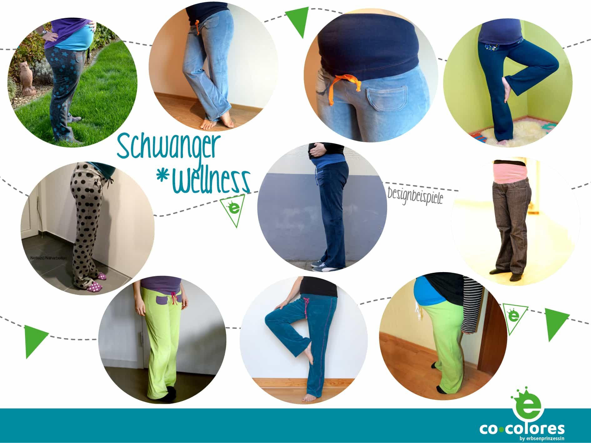 Wellness-Hose für Schwangerschaft nähen Nähanleitung Schnittmuster