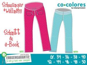 Schwanger *wellness - Schnittmuster und e-Book für eine bequeme Homewear Hose