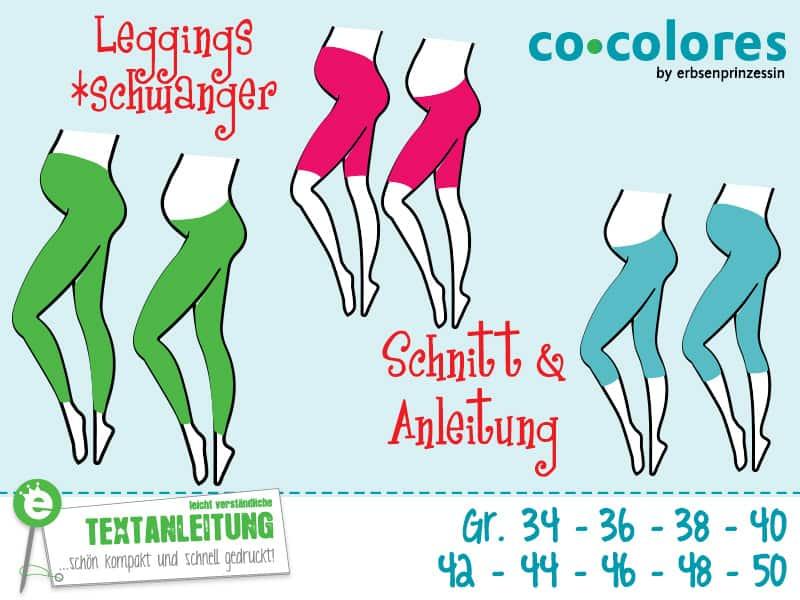 Näh dir eine Schwangerschafts-Leggings Größen 36 bis 50