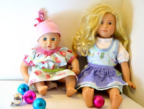 Aus Baumwollstoffen: Puppendirndl und Puppenkleid selbst genäht