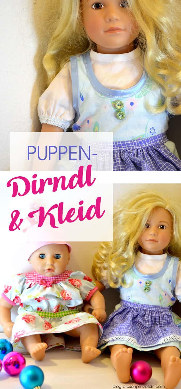 Puppen-Dirndl und Kleid für Tochters Puppen, Freestyle genäht nach burdaschnitten