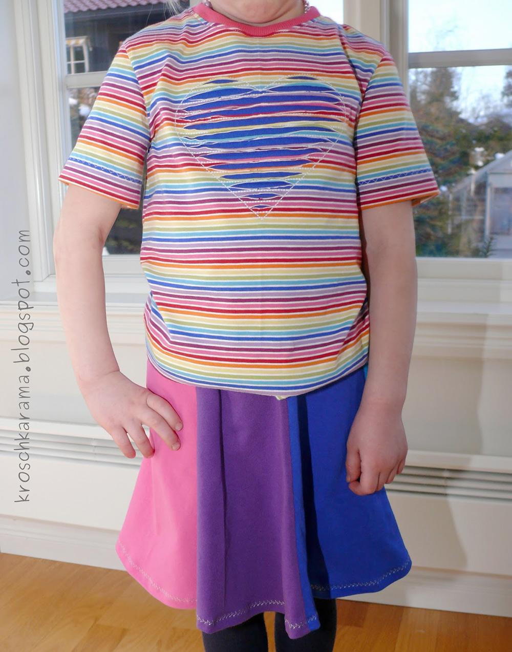 schlichtes Mädchen-Shirt: Schnittmuster