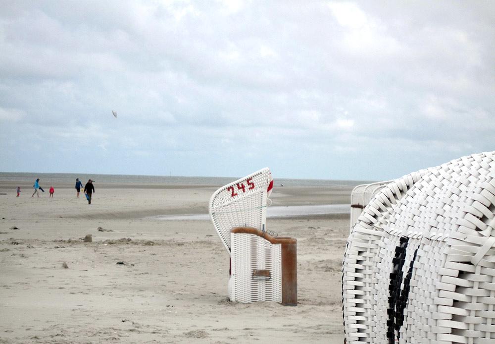 Strandkorb, Amrum beach bei Norddorf