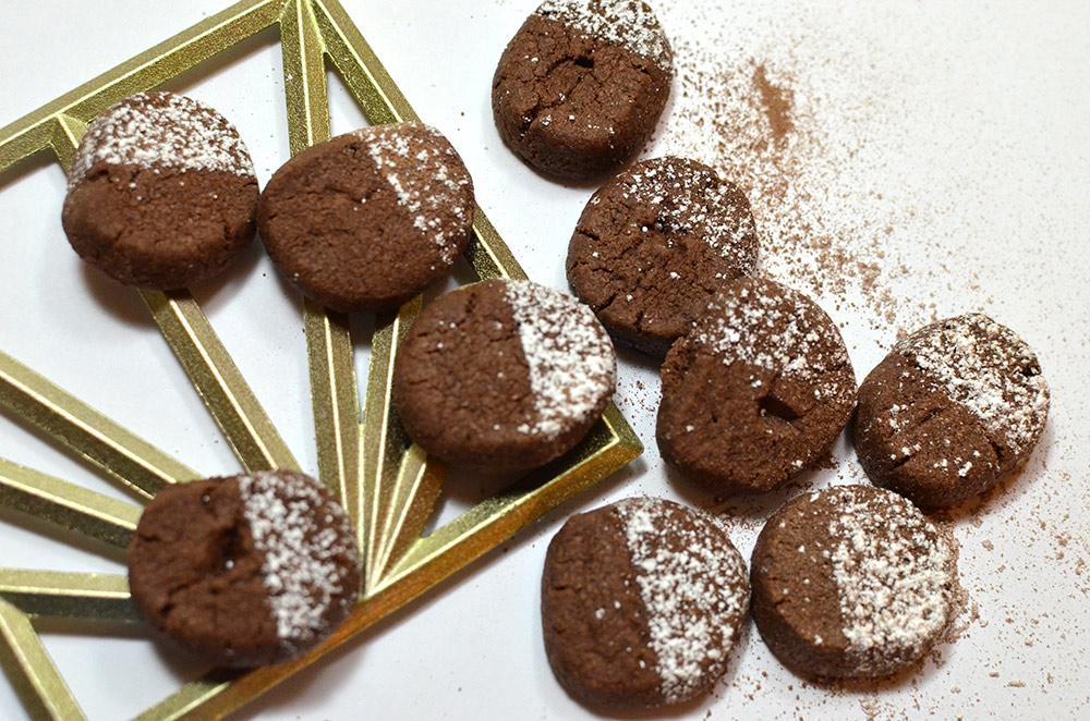 Plätzchenrezept: zarte Schokokekse, kakaoseufzer, Schokostaubplätzchen