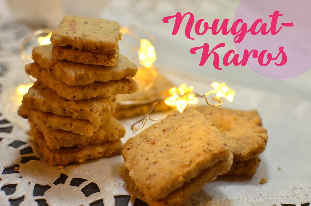 Rezept: Weihnachstplätzchen, Nougatkaros. Nusskekse backen