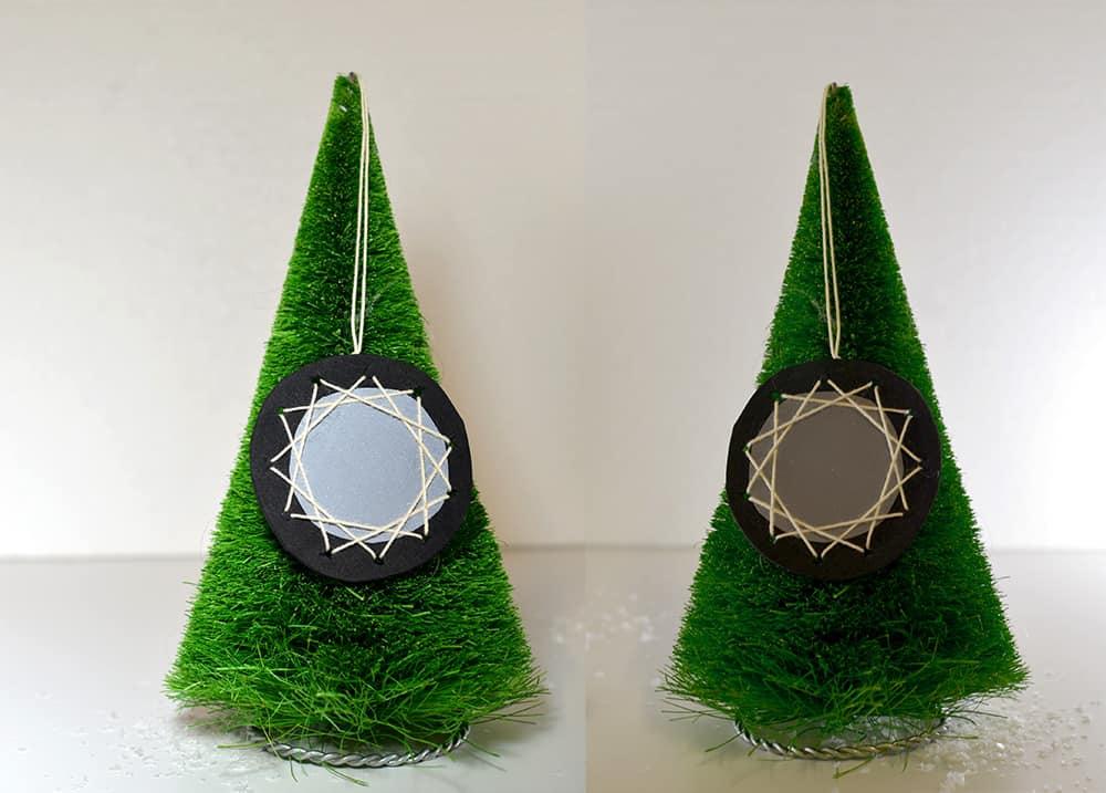 Reflektierende Deko-Anhänger für Schultasche oder Weihnachtsbaum selbermachen