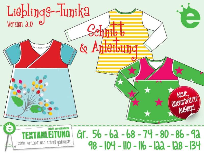 Lieblings-Tunika: Schnittmuster für Mädchen, jerseytunika in den Größen 56 bis 123