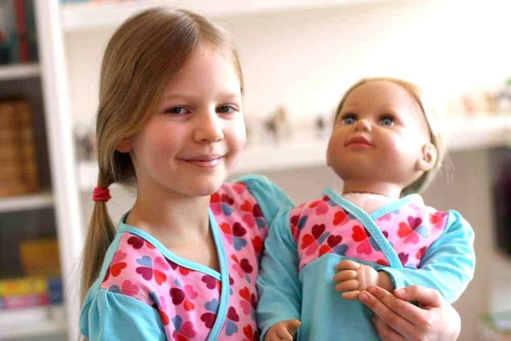 Tunikaschnittmuster für Mädchen und babys