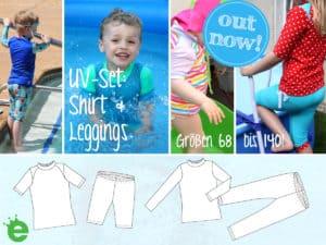 Schnittmuster UV-Schutz-Set für Kinder selbernähen
