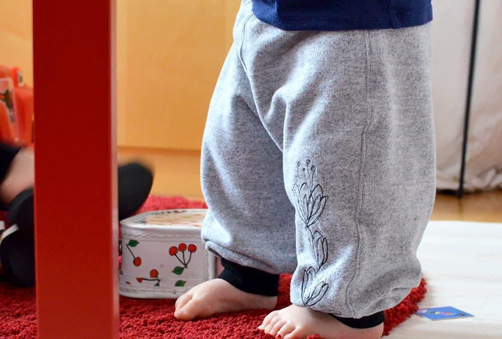 Bequeme Hose für Kleinkinder: Schnittmuster und Nähanleitung Einsatz-Hose