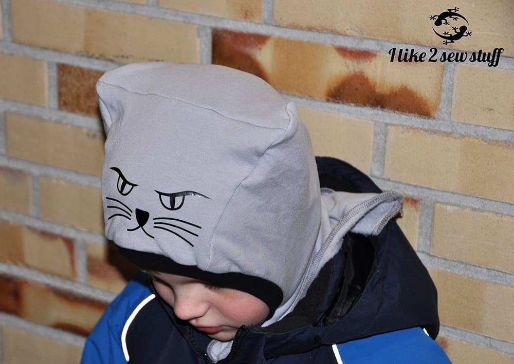 angry Cat: Katzenohrenmütze für Jungs! Schnittmuster Schalmütze / Schlupfmütze