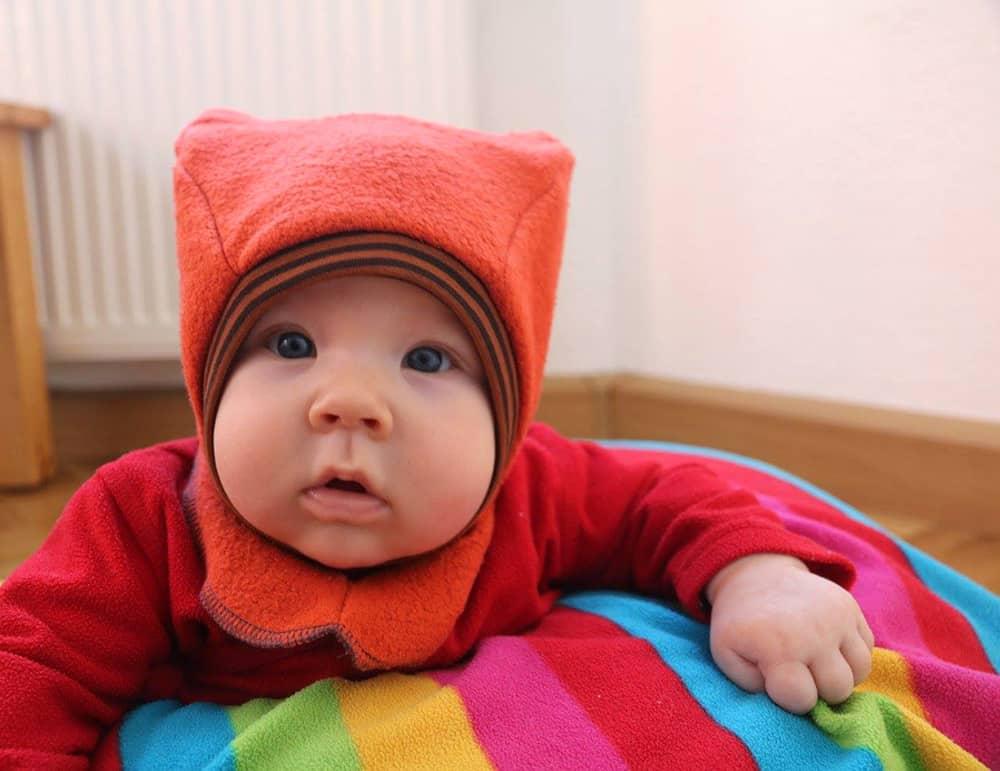 Katzenohrenmütze: Schnittmuster Schlupfmütze für Babys und Kinder zum nähen