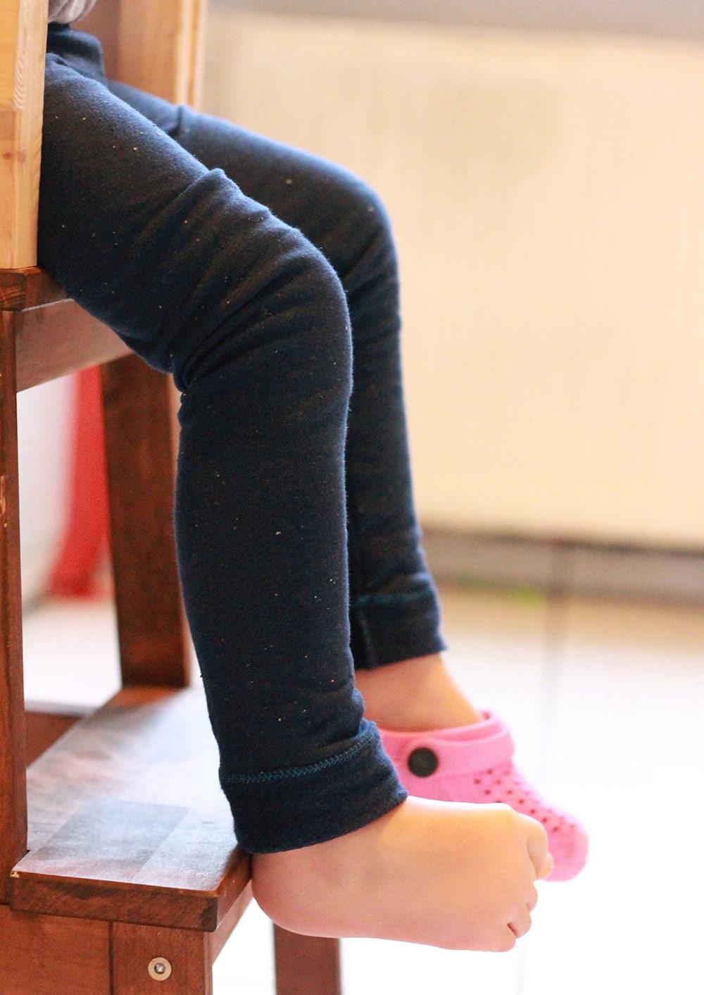 Leggings aus Wolle nähen: Schnittmuster