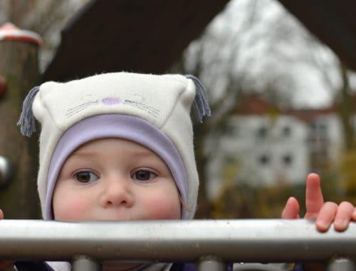 Katzenmütze, Wintermütze für kleine Kinder nähen