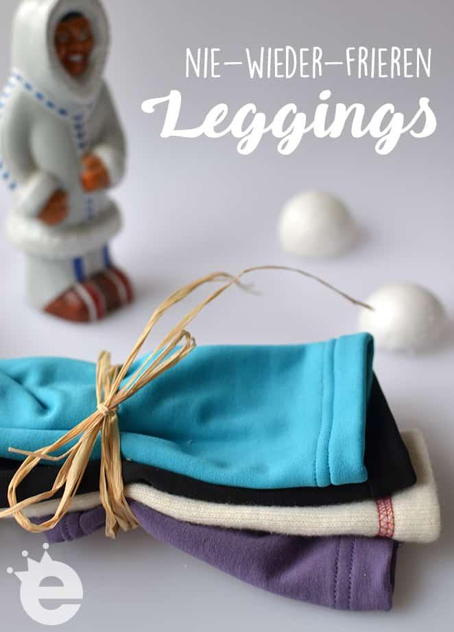 nie wieder frieren leggings selbernähen