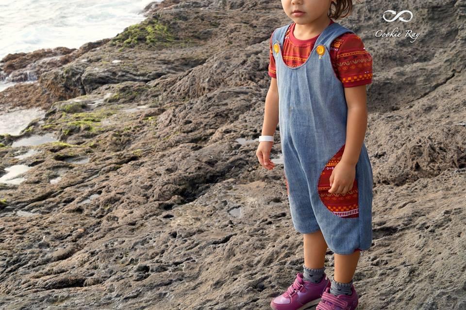 Sommer-Latzhose für kindergartenkinder selbernähen: Schnittmuster und e-Book