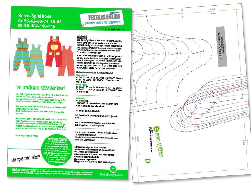 Retro-Spielhose für Babys und Kleinkinder: Latzhose selber nähen aus Sweat, jersey und ähnlichem Stoff