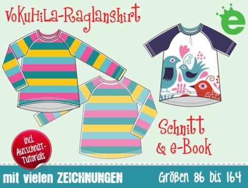 Vokuhila-Raglanshirt schnittmuster und e-Book Nähanleitung für kinder