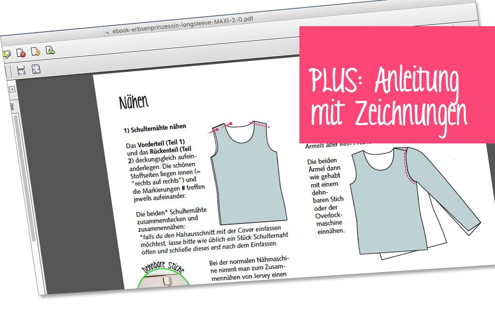 Illustrierte Näh-Anleitung mit Zeichungen