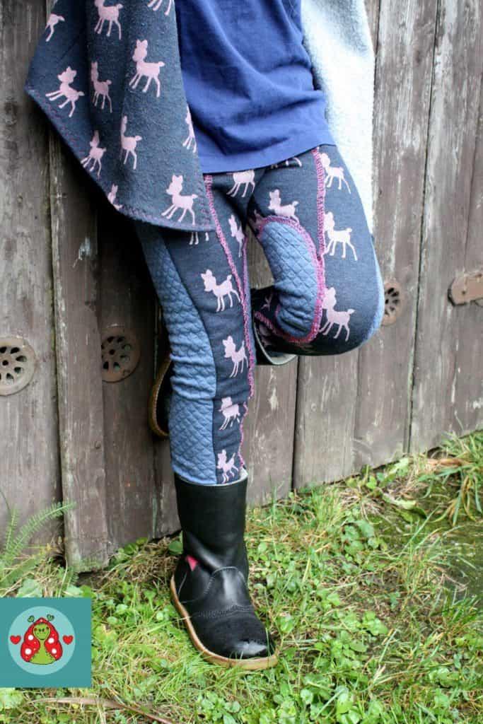 Leggings im Reiterhosenlook