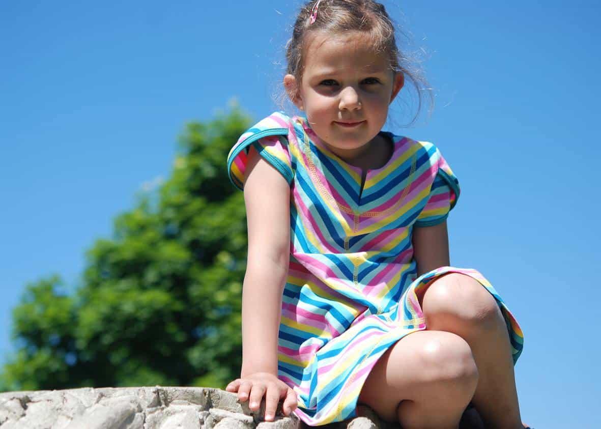 sportliches geteilt-durch-Kleid Jerseykleid nähen
