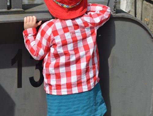 Falten-Raglanshirt aus Baumwollstoff