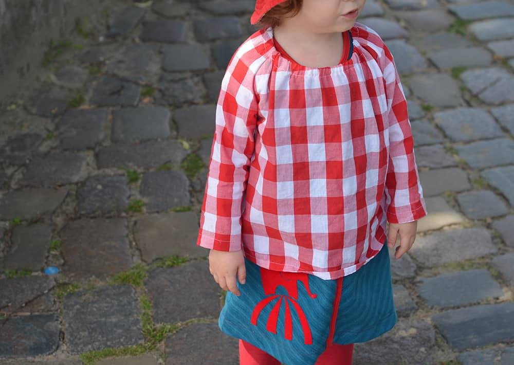 Baumwollhemd, sommerbluse für Kinder nähen