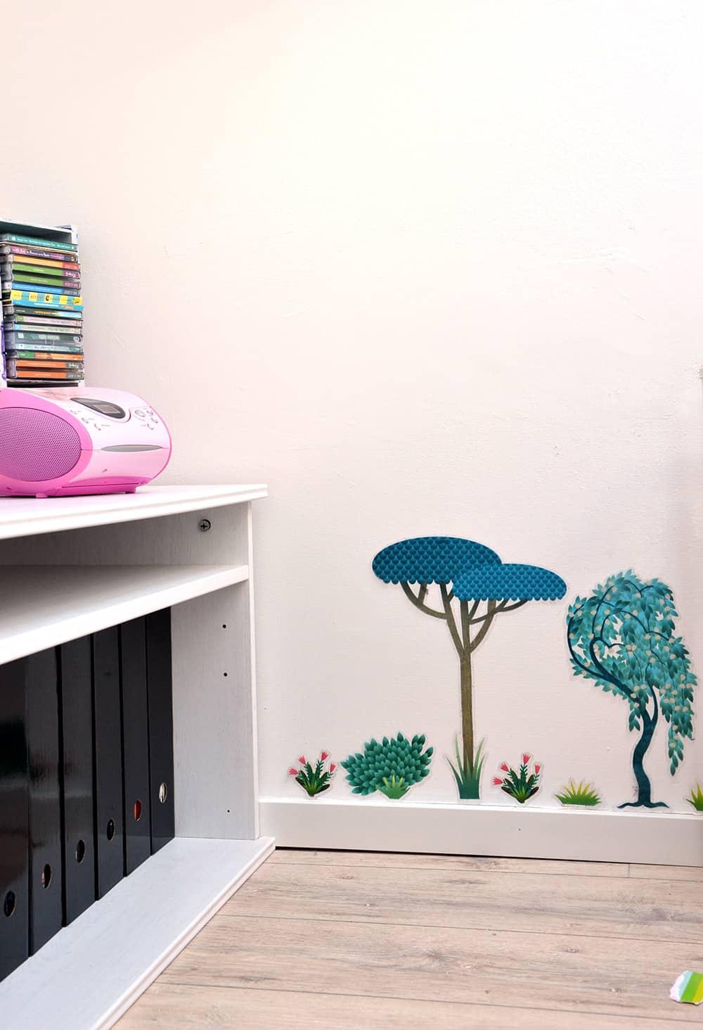 Kinderzimmer: Schulsachen-Aufbewahrung, Wandsticker