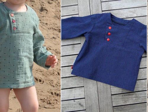 Lieblingshemd Schnittmuster für Kinder, Fischerhemd, für Jungs nähen