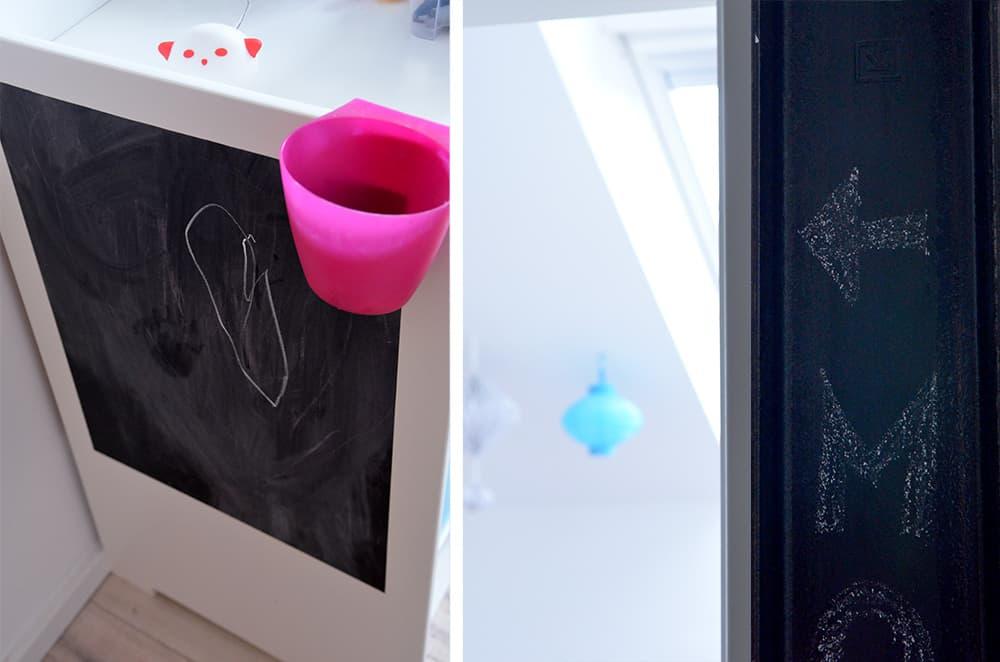Kommode im Kinderzimmer mit Tafelfolie bekleben