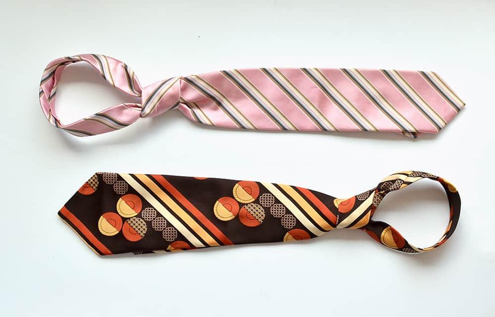 alte Krawatten retro