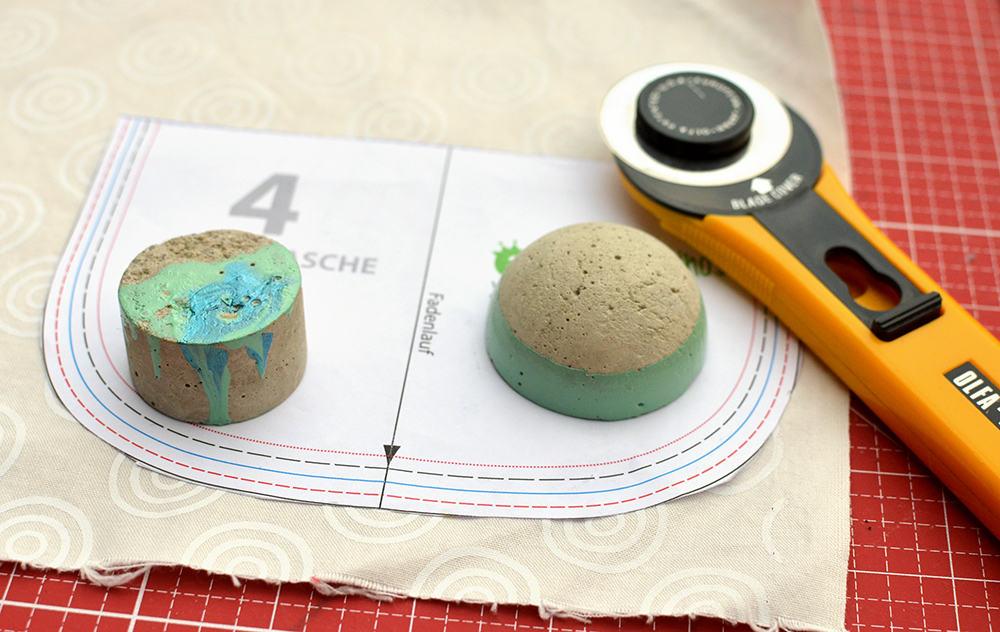 Betongießen DIY-Tutorial: Nähgewichte selber machen