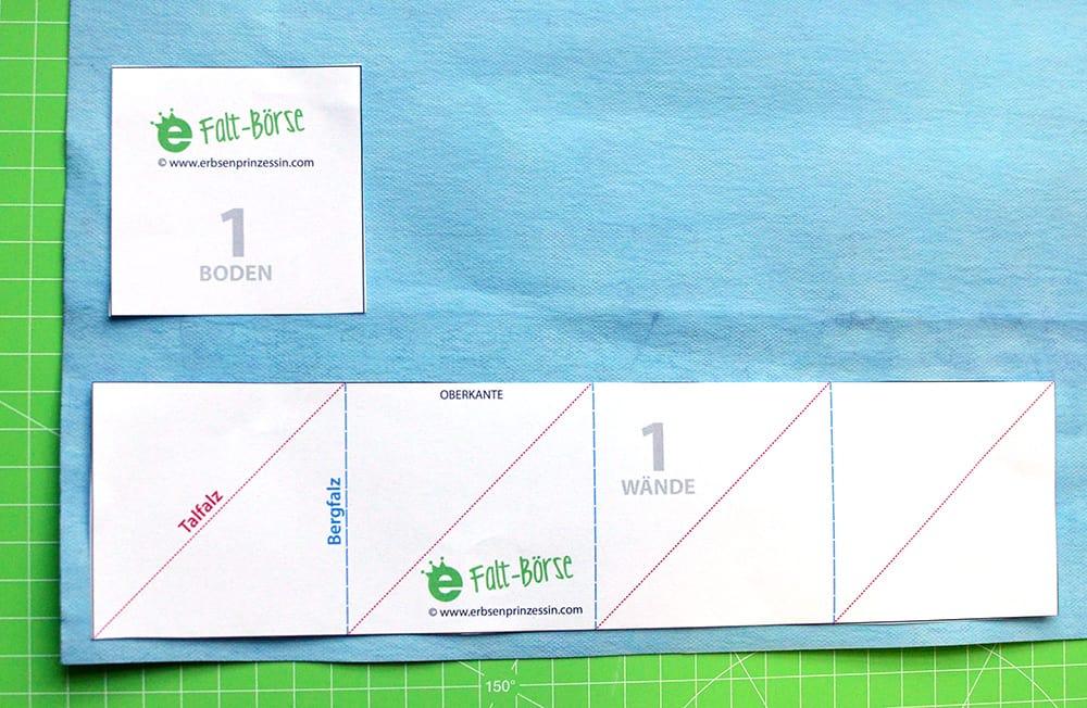 Schnittmuster Falt-Börse, origami-Portemonnaie