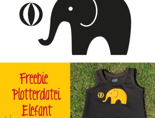 Plotterdatei Freebie Elefant