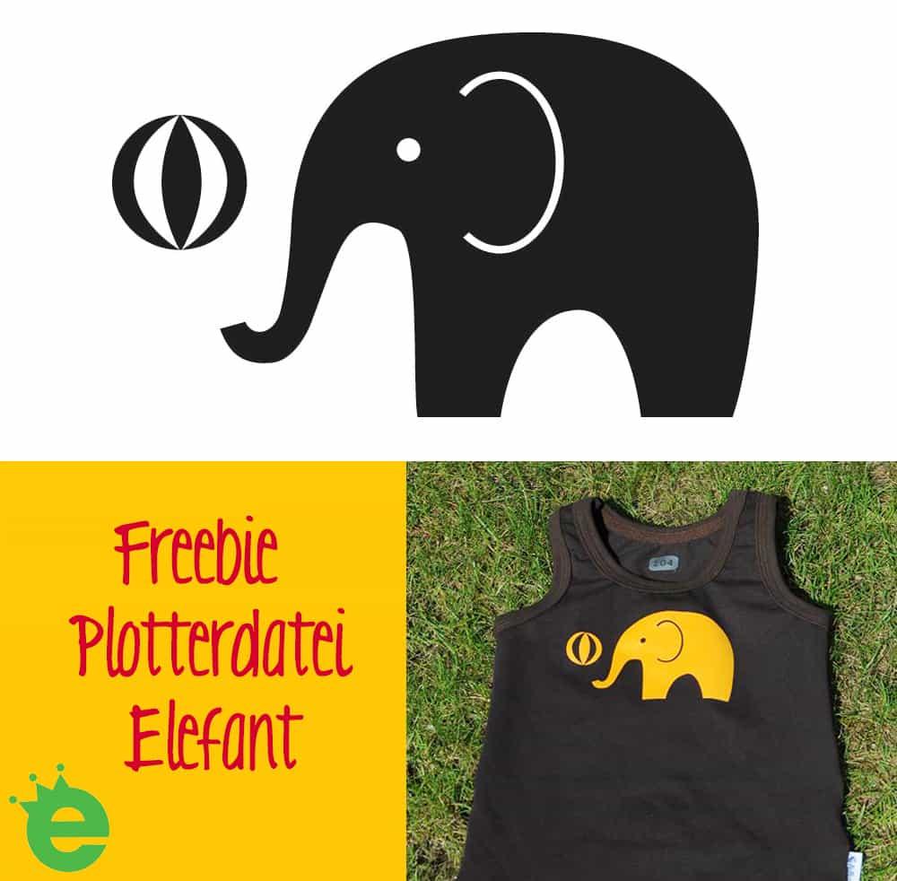 Plotterdatei Freebie von Erbsenprinzessin Gratisdownload Elefant