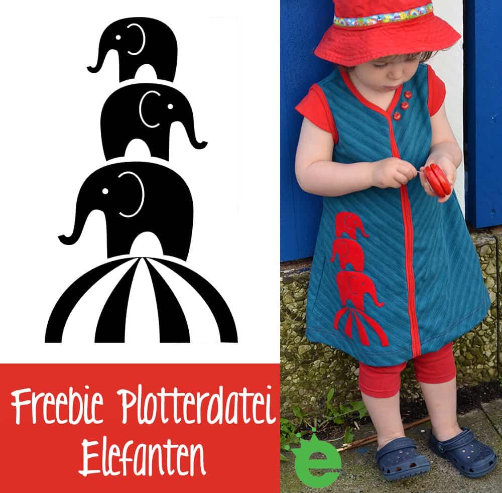 Freebie Plotterdatei Elefanten von erbsenprinzessin