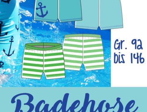 Free-ebook Badehose Gratisnähanleitung und Schnittmuster Jungs