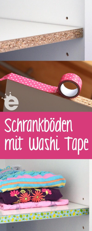 Schrankboden Regalboden-Kanten mit Washi Tape