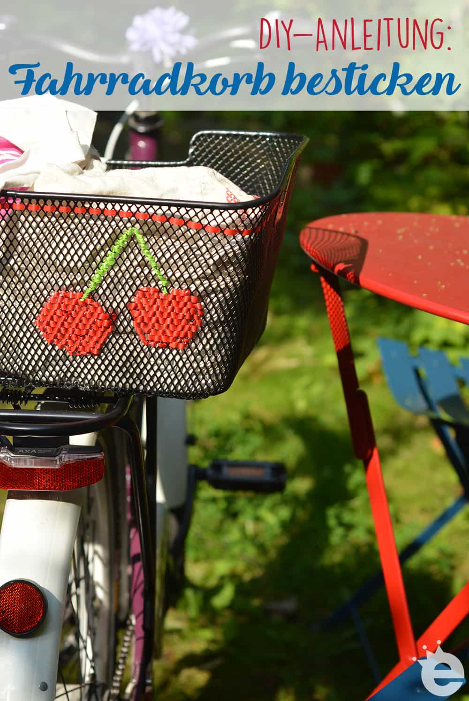 DIY-Anleitung: Fahrradkorb besticken