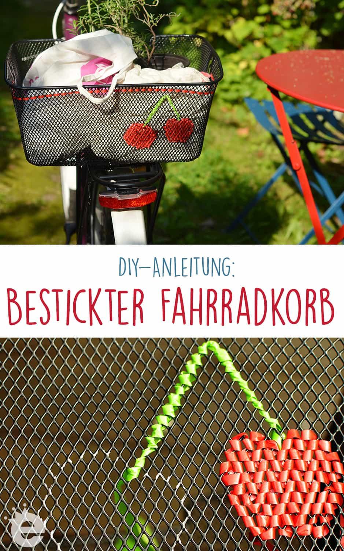 so gehts: DIY-Anleitung bestickter Fahrradkorb