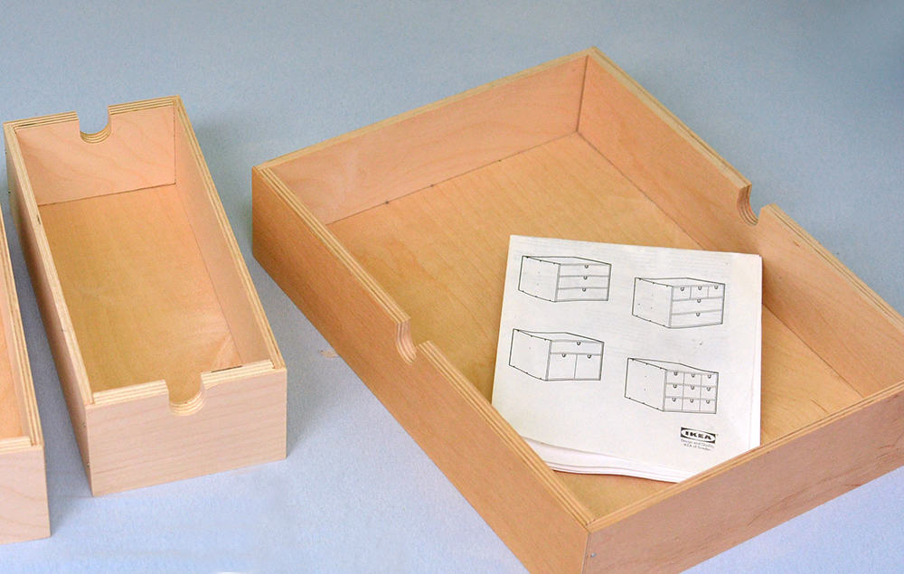 Schubkasten aus Holz von Ikea , Fira