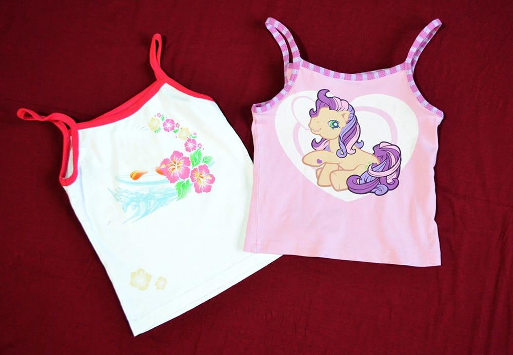 Upcycling-Unterhemden für Mädchen