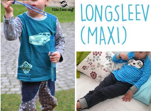 Longsleeve (MAXI) Schnittmuster Kindershirt von der Erbsenprinzessin