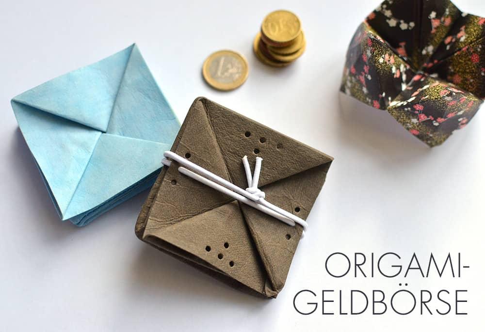 Origami-Geldbeutel selbermachen: Schnell genäht aus veganem Leder